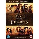 Hobbit trilogy Filmer Hobbit Trilogy/The Lord Of The Rings Trilogy (6 Dvd) [2016]